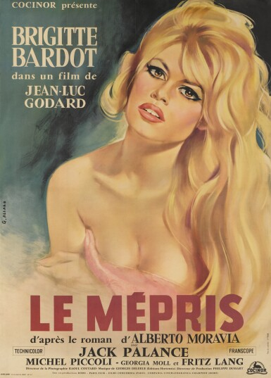 Le Mepris (1963) poster, French
