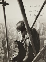 Margaret Bourke-White atop the Chrysler Building (close up)