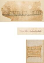 A GROUP OF SEVEN CALLIGRAPHIC TIRAZ FRAGMENTS, EGYPT, CIRCA 8TH-11TH CENTURY AD