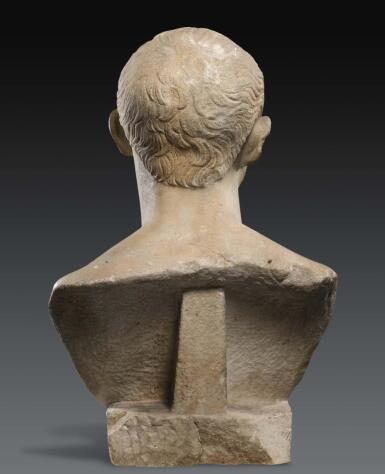 View 5. Thumbnail of Lot 42. A ROMAN MARBLE PORTRAIT BUST OF A MAN, TRAJANIC, EARLY 2ND CENTURY A.D..
