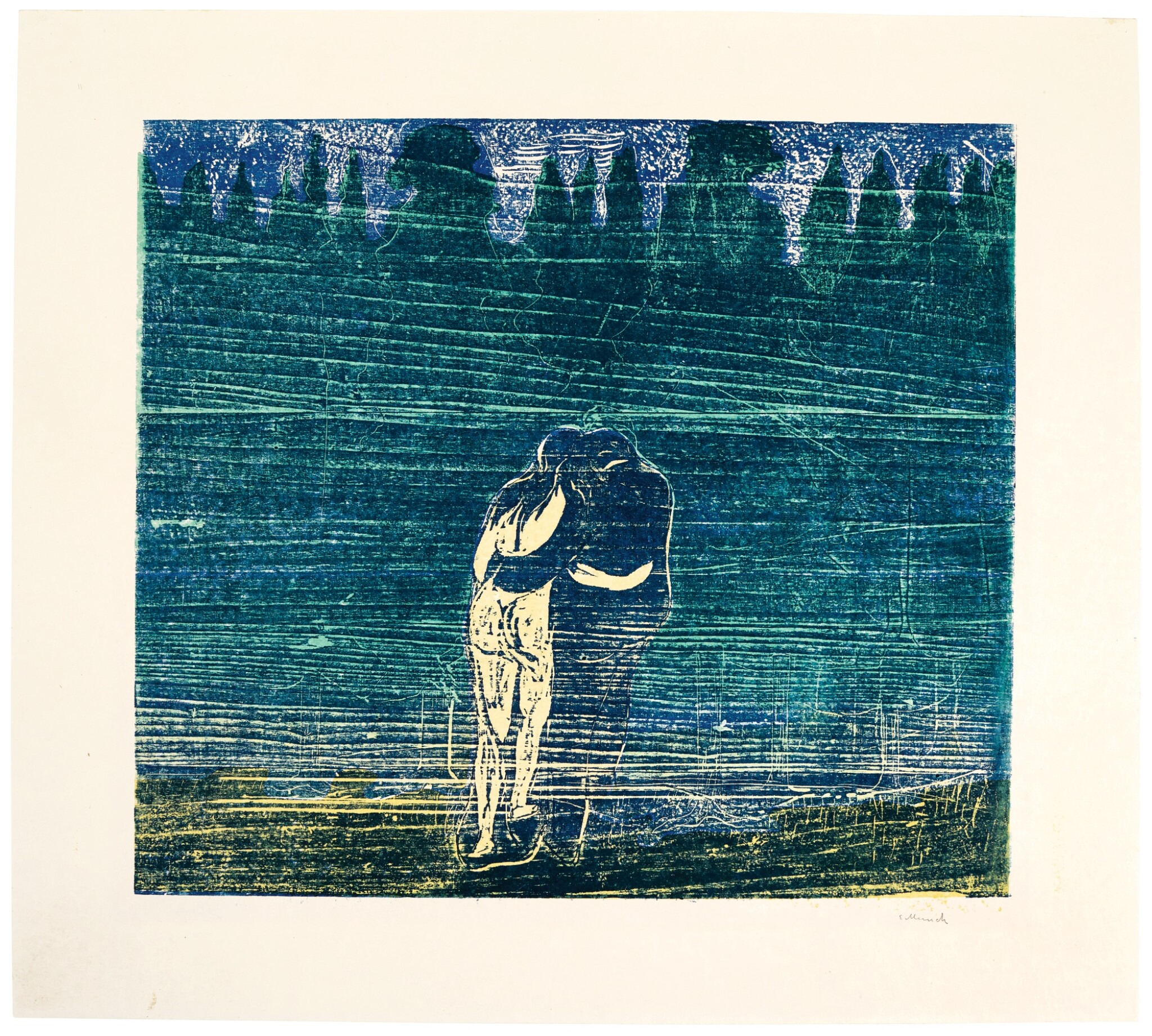 View full screen - View 1 of Lot 96. EDVARD MUNCH | TOWARDS THE FOREST I (WOLL 112; SCHIEFLER 100).