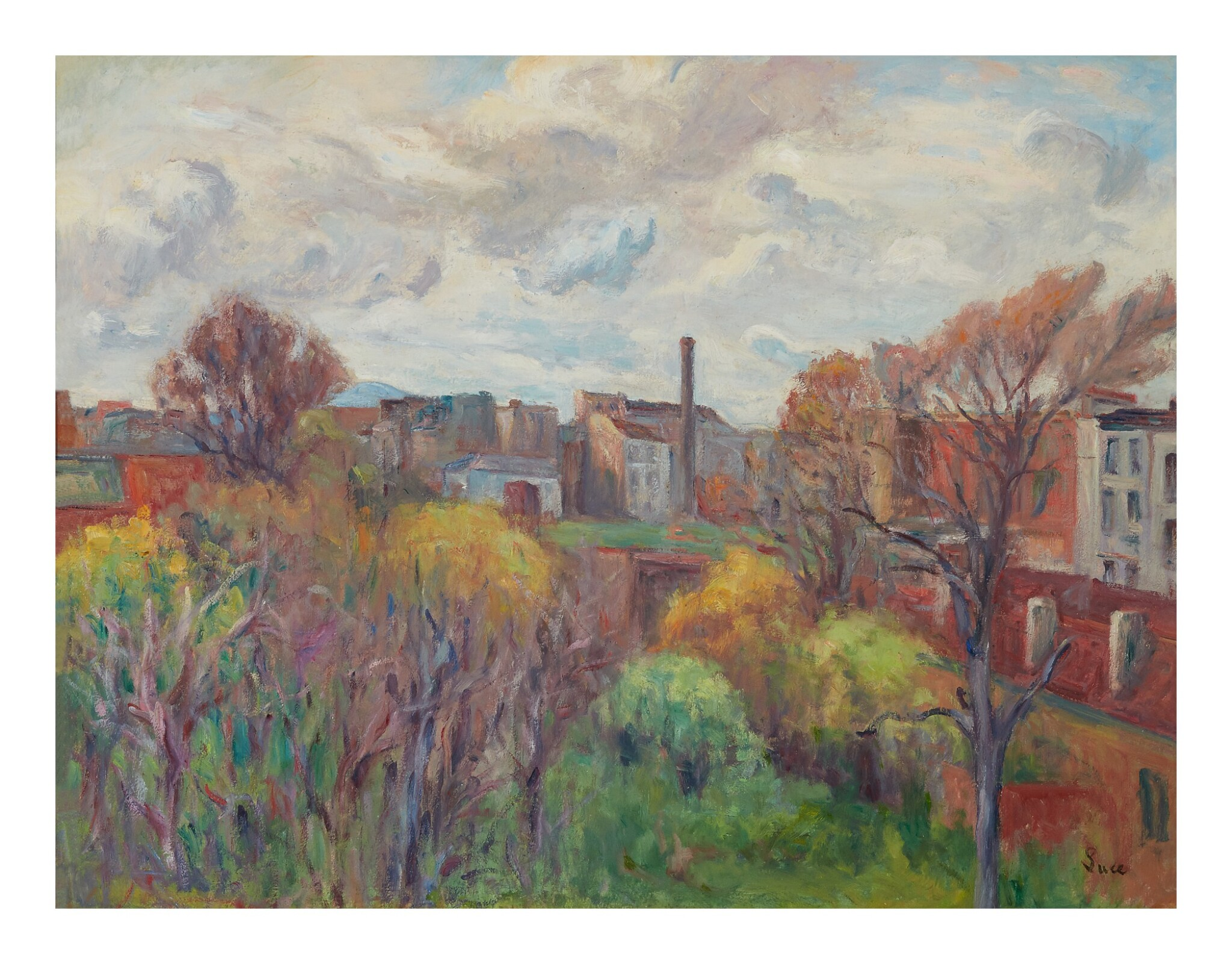 View full screen - View 1 of Lot 11. MAXIMILIEN LUCE   PAYSAGE AUX ENVIRONS DE GENTILLY.