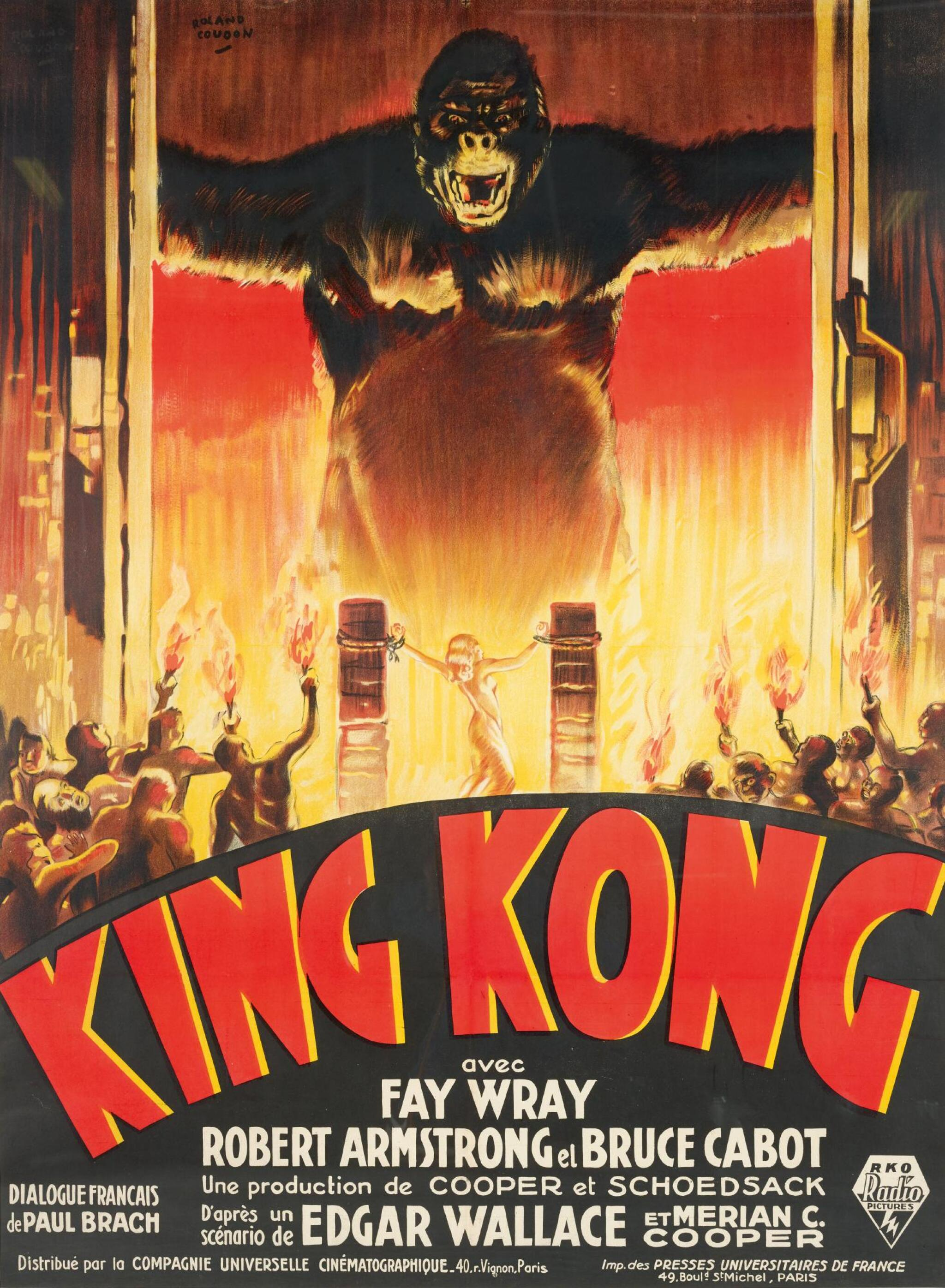 View full screen - View 1 of Lot 105. KING KONG (1933) POSTER, FRENCH .