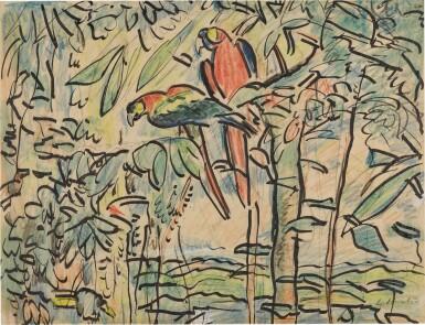 View 1. Thumbnail of Lot 8. Parrots.