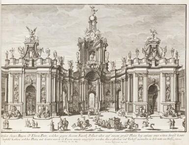 View 6. Thumbnail of Lot 55. Fürstlicher Baumeister... Augsbourg, 1711-1716. In-folio oblong. Edition originale.