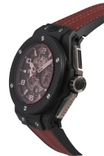 HUBLOT | BIG BANG FERRARI  LIMITED EDITION CARBON FIBRE SEMI-SKELETONISED FLYBACK CHRONOGRAPH WRISTWATCH WITH DATE CIRCA 2015