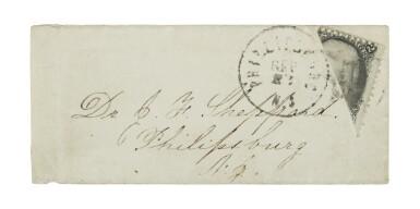 1863 2c Black Diagonal Bisect (73a)