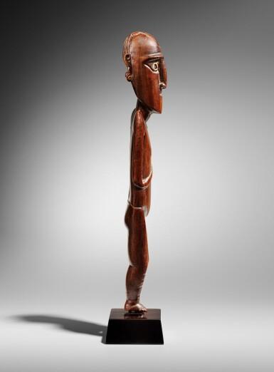 View 3. Thumbnail of Lot 64. Statue, Moai Papa, Île de Pâques | Moai Papa figure, Easter island.