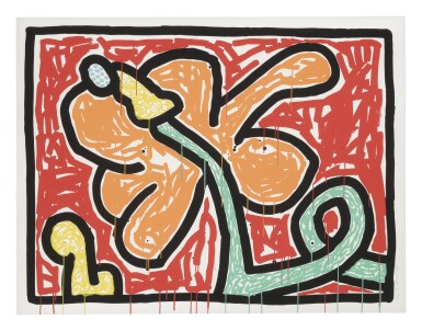KEITH HARING | FLOWERS V (LITTMANN P. 167)