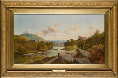 View 2. Thumbnail of Lot 221. EDWARD H. NIEMANN | A landscape with Richmond Castle on the river Swale, Yorkshire.