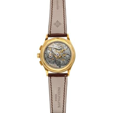 View 6. Thumbnail of Lot 355. Reference 5170  A yellow gold chronograph wristwatch with pulsation scale, Made in 2011 .