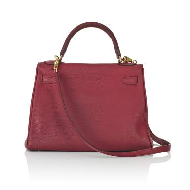 View 2. Thumbnail of Lot 2. HERMÈS | ROUGE COLOUR KELLY RETOURNÉ 28 IN TOGO LEATHER  WITH GOLD HARDWARE, 2017.
