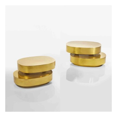 """View 1. Thumbnail of Lot 429. Pair of """"Scultura"""" Side Tables."""