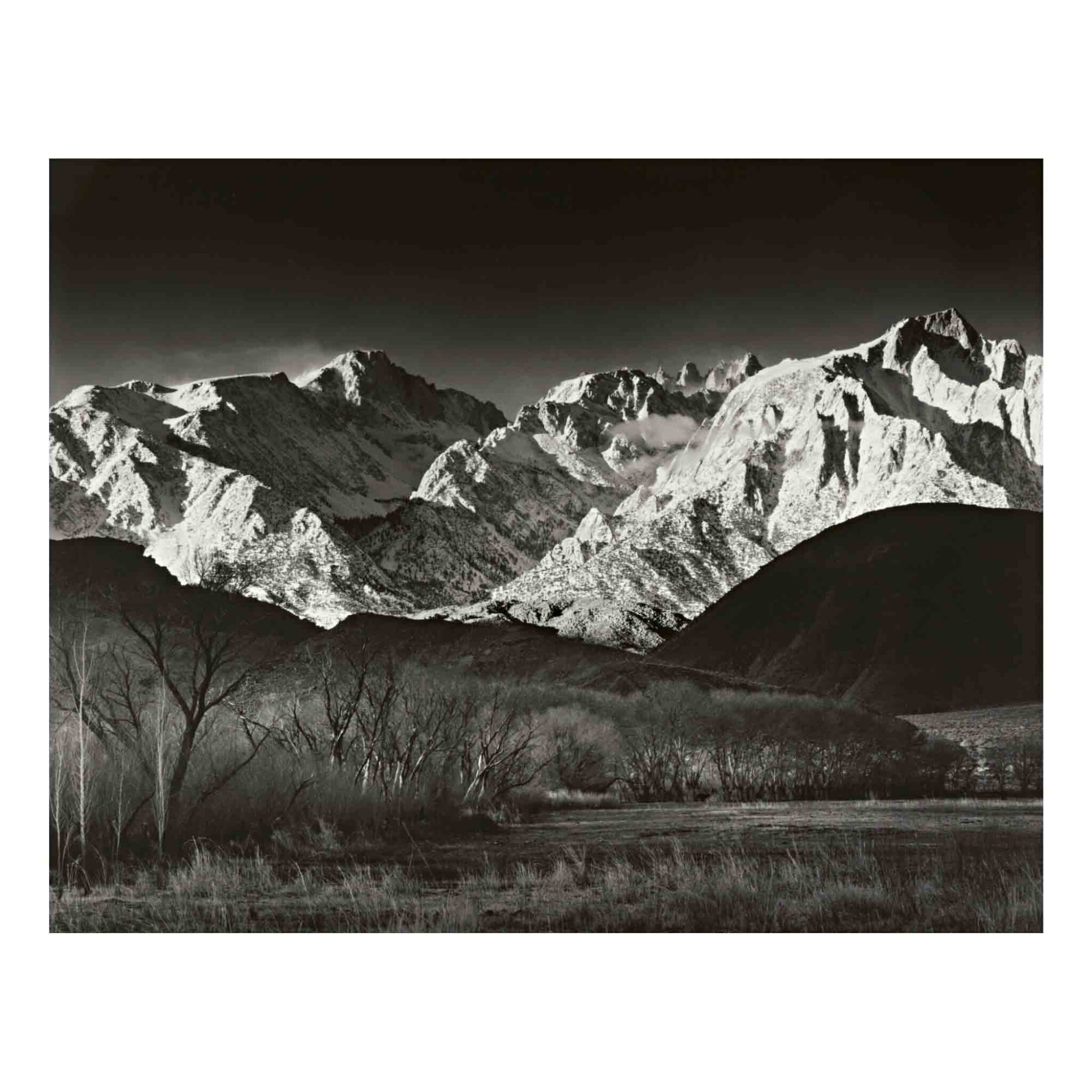 View full screen - View 1 of Lot 46. 'Sierra Nevada, Winter, from the Owens Valley, California'.