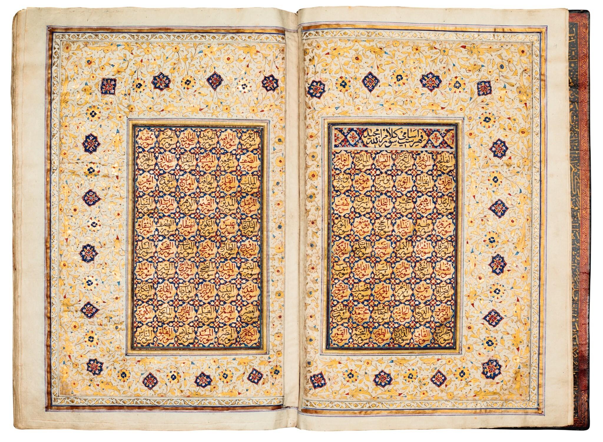 View full screen - View 1 of Lot 24. Qur'an. copied by Ahmad al-Nayrizi, illuminated. Persia, Safavid and Qajar. 1122 AH/1710 AD.