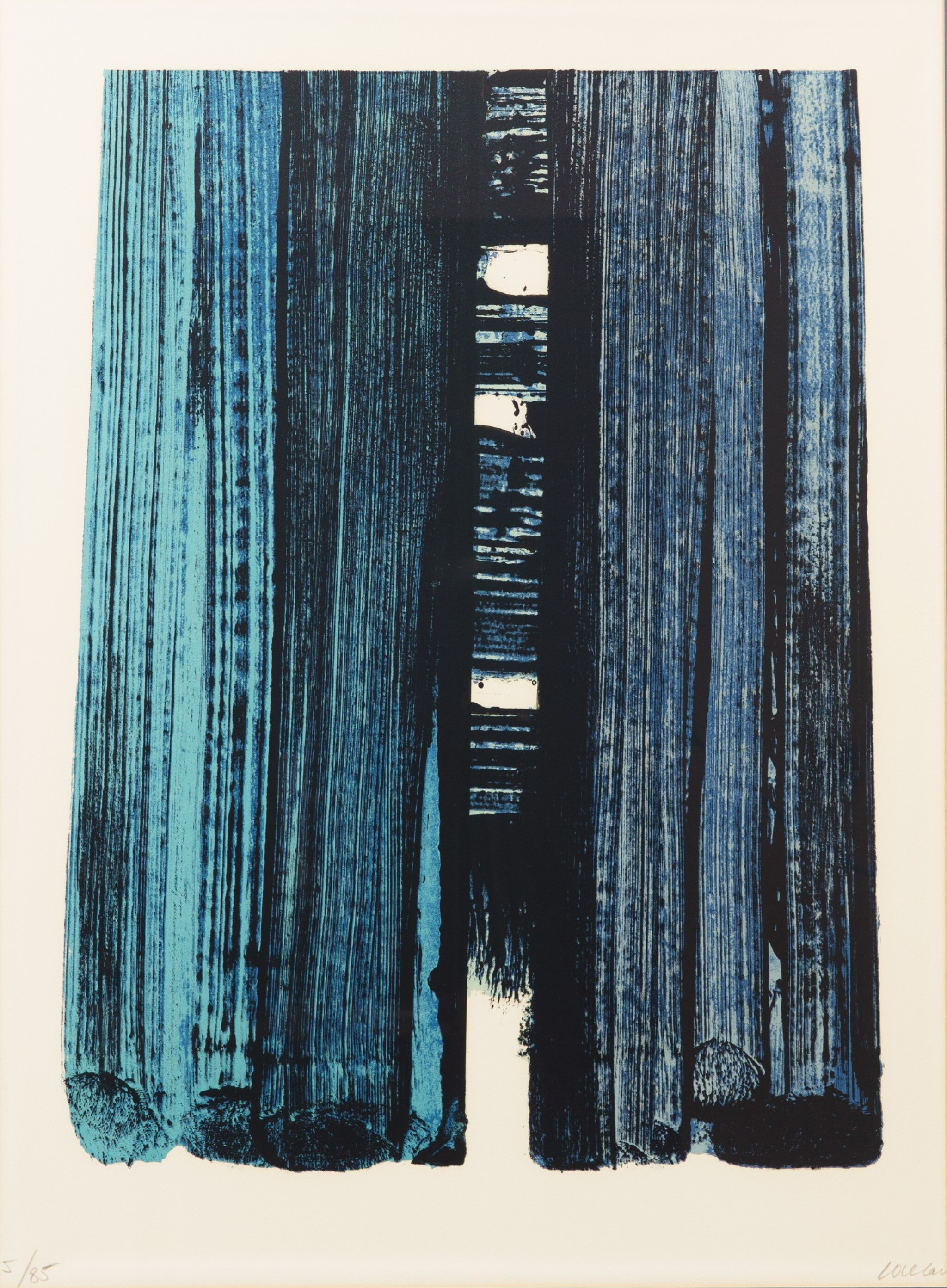 View full screen - View 1 of Lot 529.  PIERRE SOULAGES | LITHOGRAPHIE NO. 42.