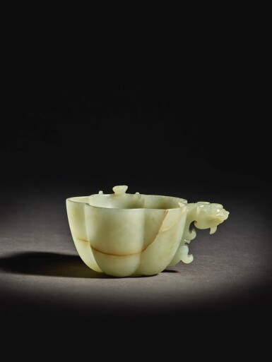 View 2. Thumbnail of Lot 255. A RARE CELADON JADE 'CHILONG' WATER DROPPER,  MING DYNASTY.