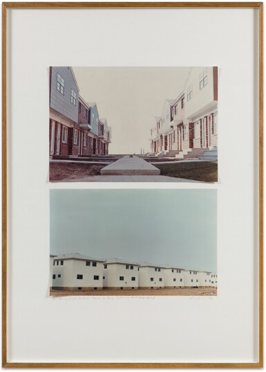 DAN GRAHAM | HOUSING PROJECT, COURTYARD, BAYONNE, NEW JERSEY, 1966; NEW HOUSES, JERSEY CITY, NEW JERSEY, 1966