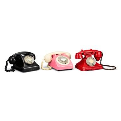 View 2. Thumbnail of Lot 2011. Three old Hong Kong landline telephones | 古老電話一組三件.