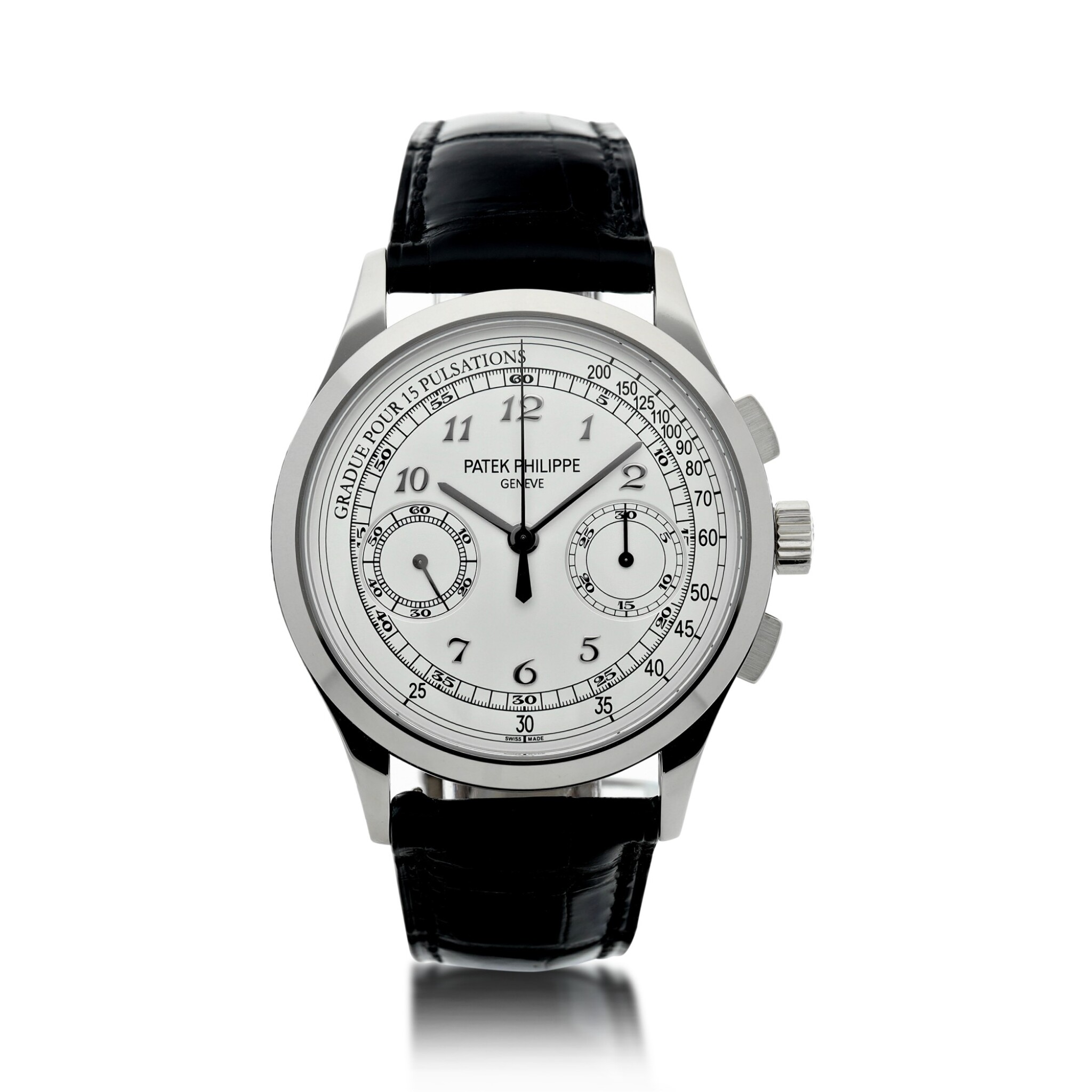 View full screen - View 1 of Lot 168. REFERENCE 5170G A WHITE GOLD CHRONOGRAPH WRISTWATCH WITH PULSATIONS DIAL, CIRCA 2017.