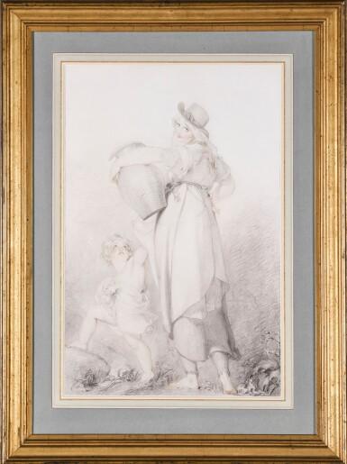 View 2. Thumbnail of Lot 4. SIR THOMAS LAWRENCE, P.R.A.   THE BEAUTIFUL WASHERWOMAN.