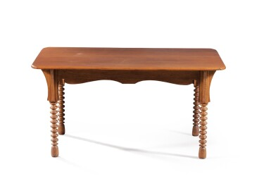 View 4. Thumbnail of Lot 23. GUSTAVE SERRURIER-BOVY   CHAMBRE D'ARTISAN DINNER TABLE, CIRCA 1895 [TABLE DE SALLE À MANGER CHAMBRE D'ARTISAN, VERS 1895].