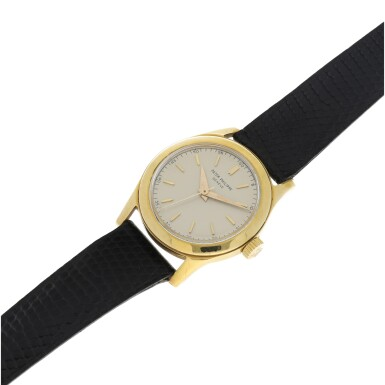 View 6. Thumbnail of Lot 3. REFERENCE 2483 A YELLOW GOLD CENTER SECONDS WRISTWATCH, MADE IN 1950.