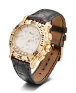 CHOPARD | HAPPY SPORT, A PINK GOLD AND DIAMOND-SET CHRONOGRAPH WRISTWATCH WITH DATE, CIRCA 2010