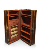 A Louis Vuitton Cocktail Bar and Humidor Customised Trunk