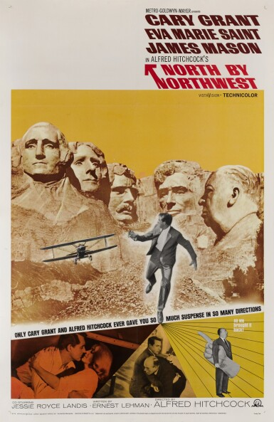 View 1. Thumbnail of Lot 71. NORTH BY NORTHWEST (1959) POSTER, US.