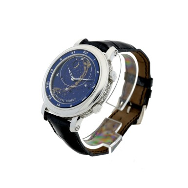 View 3. Thumbnail of Lot 178. REFERENCE 5102G-001 CELESTIAL A WHITE GOLD AUTOMATIC ASTRONOMICAL WRISTWATCH WITH SKY CHART, PHASES AND POSITION OF THE MOON, AND TIME OF MERIDIAN PASSAGE OF SIRIUS, MADE IN 2003.