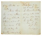CARDIGAN | two autograph letters signed, 1843-1846