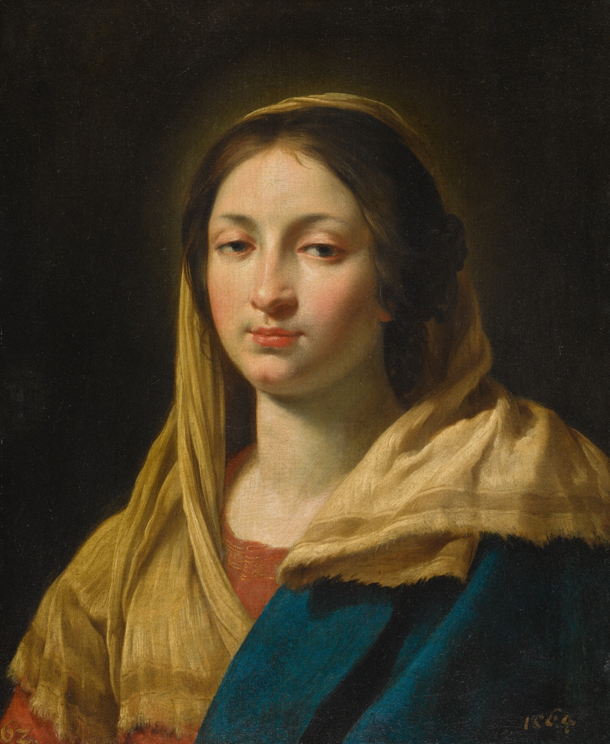 SIMON VOUET | Study of a young woman as the Virgin
