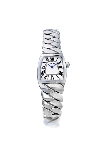 CARTIER | LA DONA REF 2902, A STAINLESS STEEL WRISTWATCH WITH BRACELET, CIRCA 2005