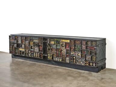 """View 7. Thumbnail of Lot 120. A Unique """"Sculpture Front"""" Cabinet."""