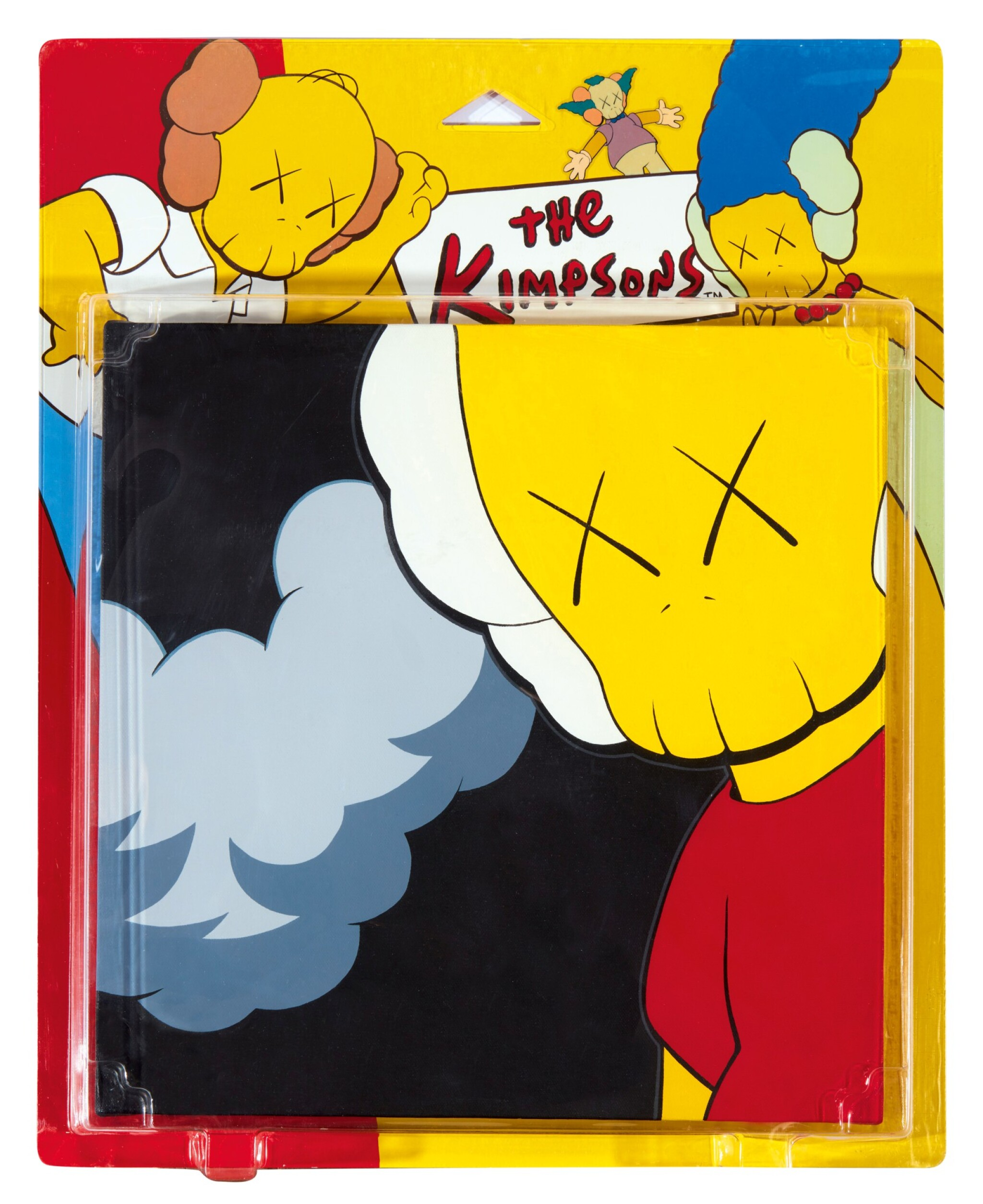 View full screen - View 1 of Lot 46. KAWS | UNTITLED (KIMPSONS) (Package Painting Series) 無題(KIMPSONS)(包裝畫系列).