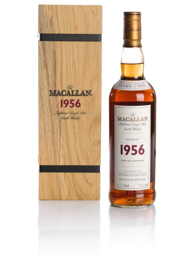View 1. Thumbnail of Lot 114. THE MACALLAN FINE & RARE 15 YEAR OLD 46.2 ABV 1956.