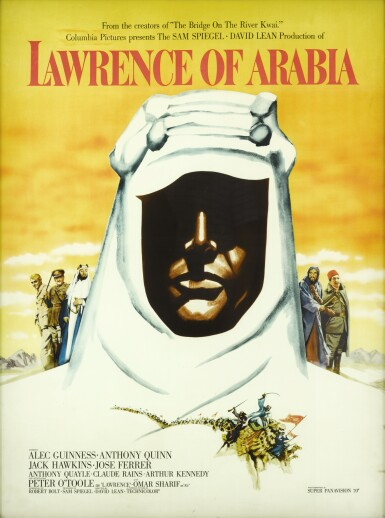 View 1. Thumbnail of Lot 52. Lawrence of Arabia (1962) special double-sided Roadshow display, US.