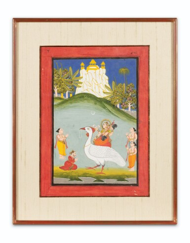 View 4. Thumbnail of Lot 37. RAJASTHAN, LATE 18TH CENTURY AND 19TH CENTURY | SIX INDIAN MINIATURES.