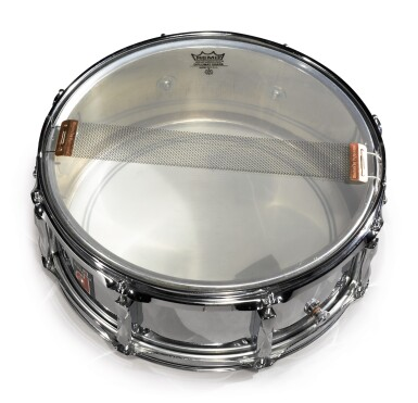 """View 2. Thumbnail of Lot 85. [QUESTLOVE] YAMAHA TOUR-INSCRIBED SNARE DRUM AS USED LIVE AND IN STUDIO BY AHMIR """"QUESTLOVE"""" THOMPSON."""