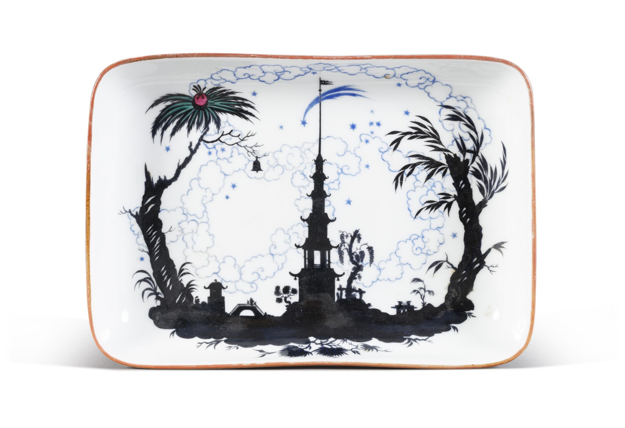 View full screen - View 1 of Lot 151. The Nightingale: a rare Soviet porcelain platter, State Porcelain Factory, Petrograd, 1922.