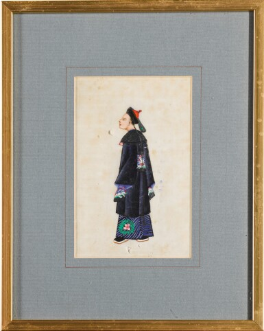 View 14. Thumbnail of Lot 163. A set of fourteen Chinese paintings on silk, Canton, 19th century.