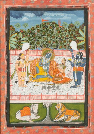 View 5. Thumbnail of Lot 69. RAJASTHAN, LATE 18TH CENTURY AND 19TH CENTURY | SEVEN INDIAN MINIATURES.