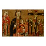 Sold Without Reserve   MASTER OF THE MAGDALEN   ST. MARGARET, THE MADONNA AND CHILD, AND THE CRUCIFIXION WITH MOURNING SAINTS