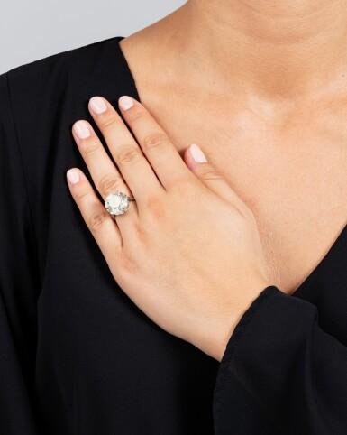View 4. Thumbnail of Lot 27. BAGUE DIAMANT    DIAMOND RING.