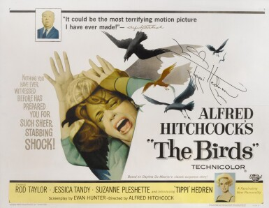 View 1. Thumbnail of Lot 72. THE BIRDS (1963) SIGNED POSTER, US.