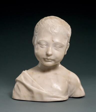FOLLOWER OF DESIDERIO DA SETTIGNANO (CIRCA 1429-1464), ITALIAN, FLORENCE, SECOND HALF 15TH CENTURY | BUST OF A BOY, POSSIBLY THE INFANT CHRIST