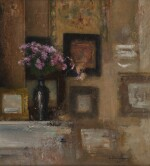 IVAN PAVLOVICH POKHITONOV | LILACS ON THE MANTELPIECE, RUE DU TRÔNE