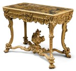 AN ITALIAN CARVED GILWOOD CENTER TABLE LATE 19TH CENTURY