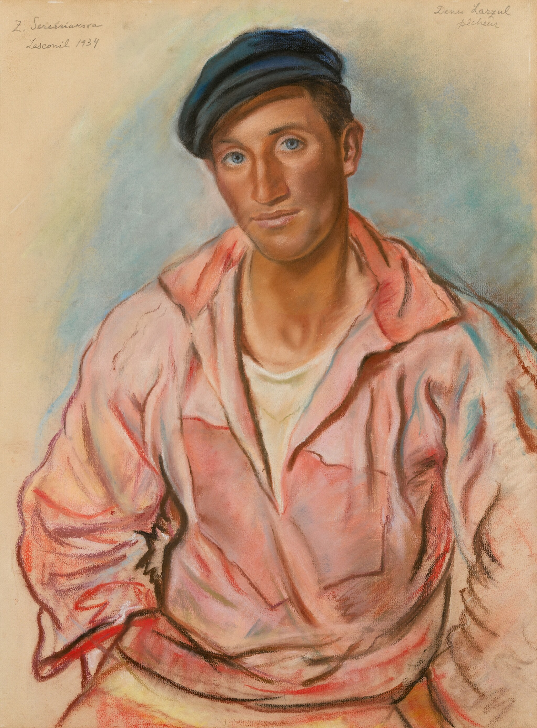 View full screen - View 1 of Lot 92. ZINAIDA EVGENIEVNA SEREBRIAKOVA | Breton Fisherman .